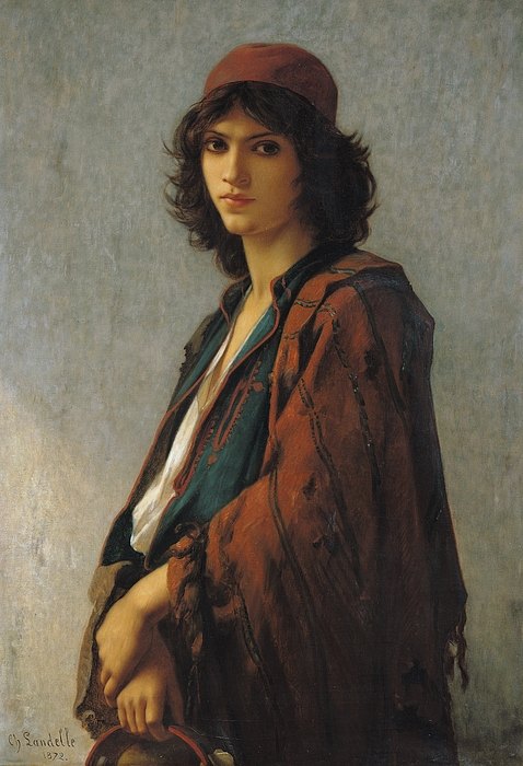 Young Bohemian Serb Painting - Young Bohemian Serb by Charles Landelle