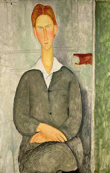 Young Painting - Young Boy With Red Hair by Amedeo Modigliani