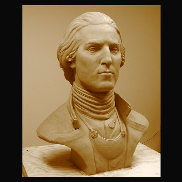 George Washington Sculpture - Young George In Clay by Bryan Rapp