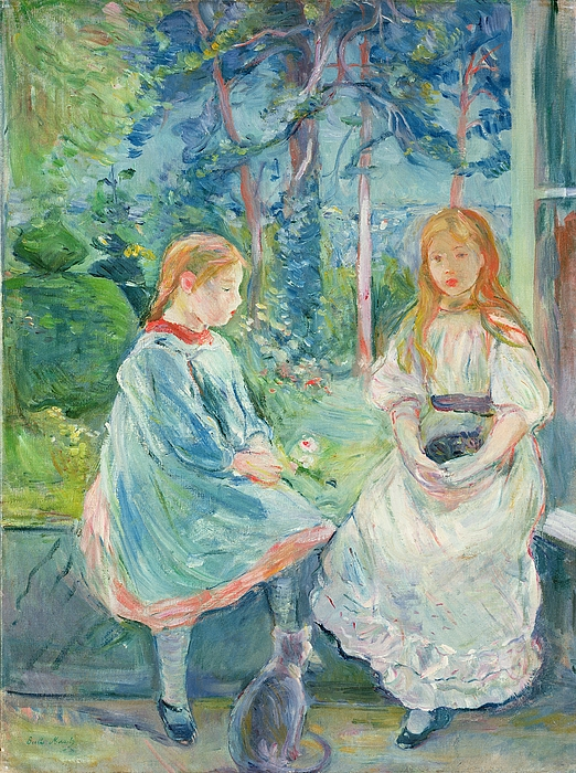 Young Painting - Young Girls At The Window by Berthe Morisot
