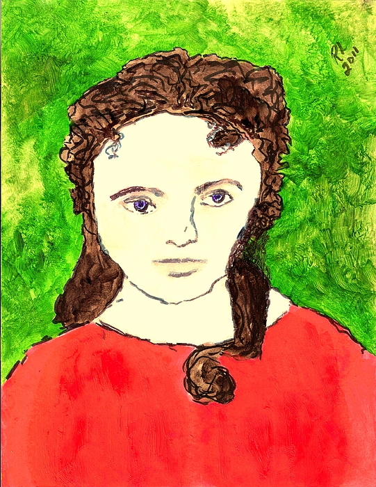 Liz Painting - Young Liz Taylor 2 by Richard W Linford