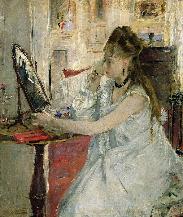Young Painting - Young Woman Powdering Her Face by Berthe Morisot