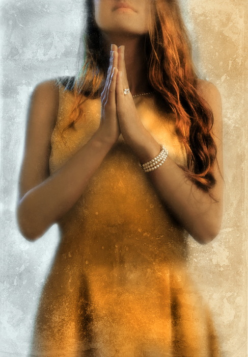 Young Photograph - Young Woman Praying by Jill Battaglia