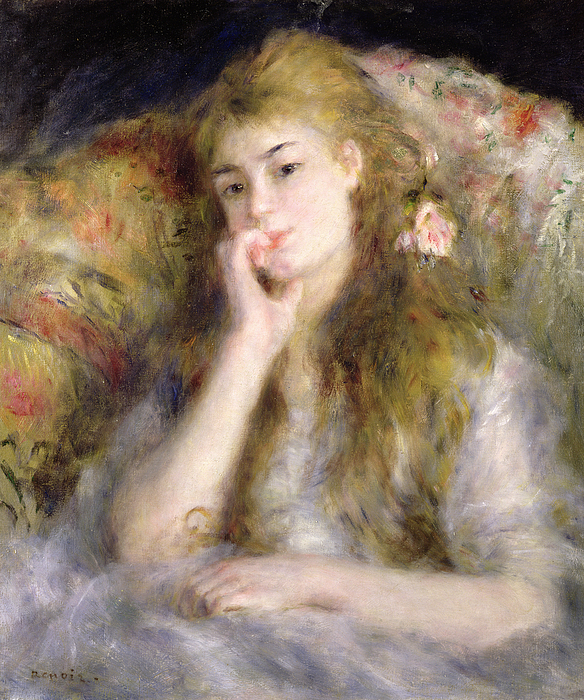 Pierre Auguste Renoir Painting - Young Woman Seated by Pierre Auguste Renoir