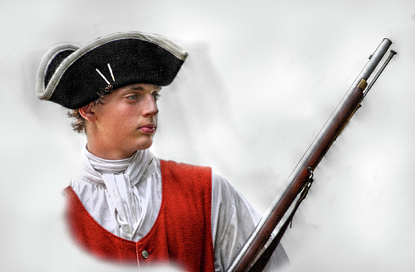 Military Digital Art - Youthful Soldier With Musket by Randy Steele