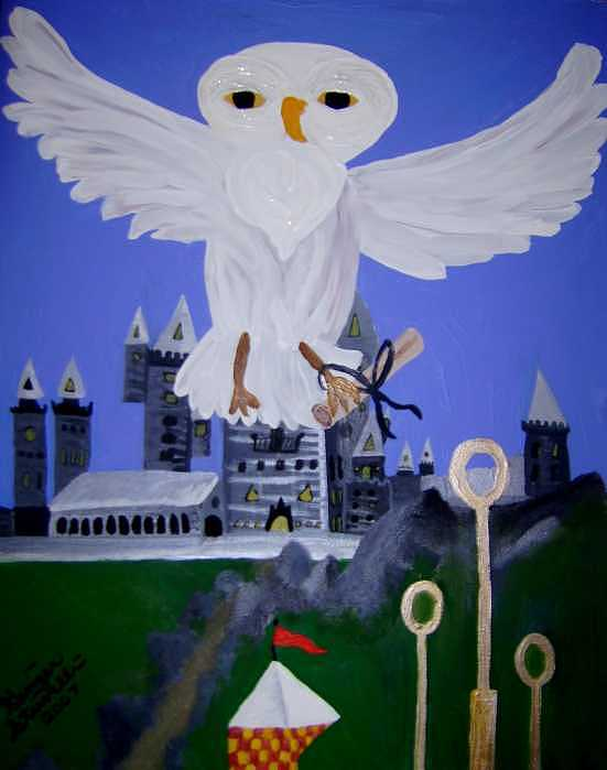 Youve Got Mail From Hogwarts Painting by Ginger Strivelli