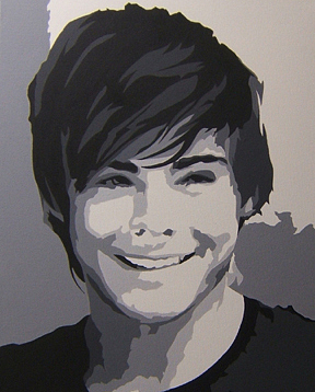 Zack Efron Painting - Zack Efron by Michael James  Toomy