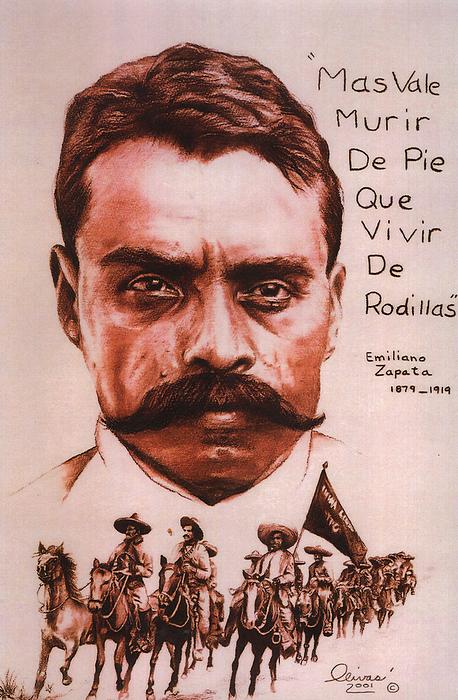 Zapata Pastel - Zapata With Riderless Horse by Bill Olivas
