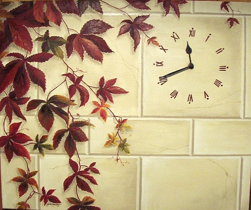 Clock Painting - Zeit by Haike Espenhain