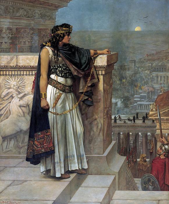 Female Painting - Zenobias Last Look On Palmyra by Herbert Gustave Schmalz