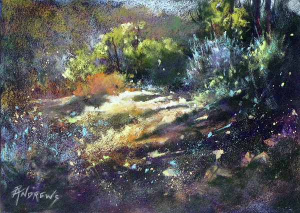 Landscape Painting - Zig Zag Path by Rae Andrews