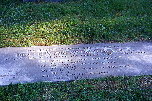 Nashville Photograph - Zollicoffers Grave by Randy Muir