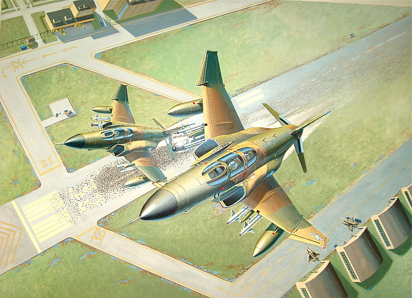 Fighter Jets Painting - Zulu Alert scramble by  Keith Kochenour