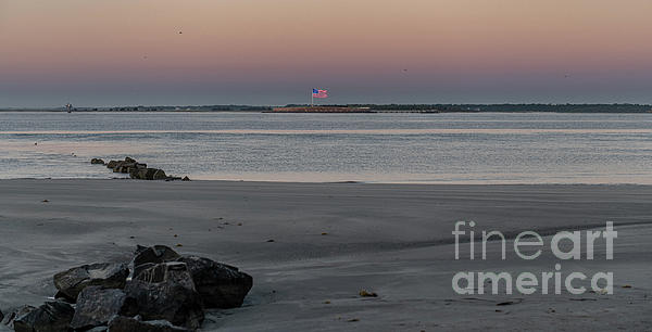 Salty Shores Sunrise Over Fort Sumter Photograph