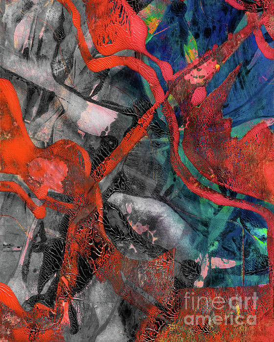 Abstract Mixed Media - Alternate Reality by Laura L Leatherwood
