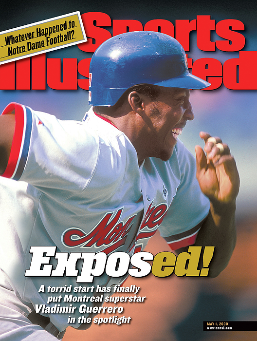 Montreal Expos Vladimir Guerrero... Sports Illustrated Cover Photograph by Sports Illustrated