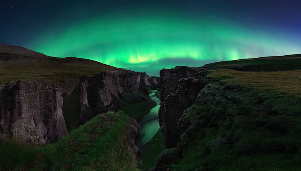 Night At The Canyon Photograph by Jose Parejo