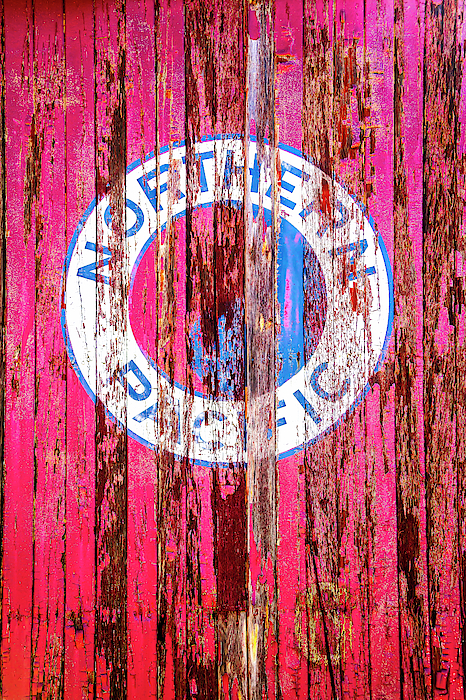Logo Photograph - Old Northern Pacific Logo by Garry Gay