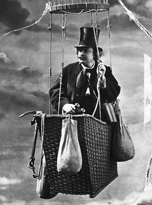 Photographer Nadar In The Gondola Photograph by Bettmann