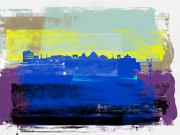 Rome Mixed Media - Rome Abstract Skyline II by Naxart Studio