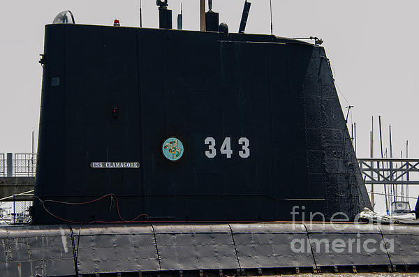 Ss-343 Us Navy Clamagore Diesel Submarine Photograph