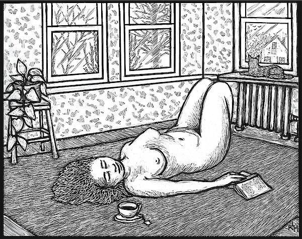 Figure Mixed Media - Sunday Afternoon by Ricardo Levins Morales