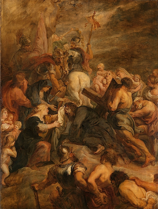 Johannes Painting - The Carrying Of The Cross, 1634 - 1637 by Peter Paul Rubens