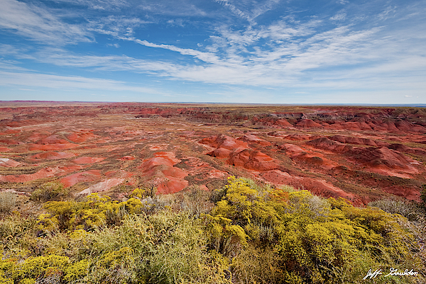 Arid Climate Photograph - The Painted Desert From Tiponi Point by Jeff Goulden