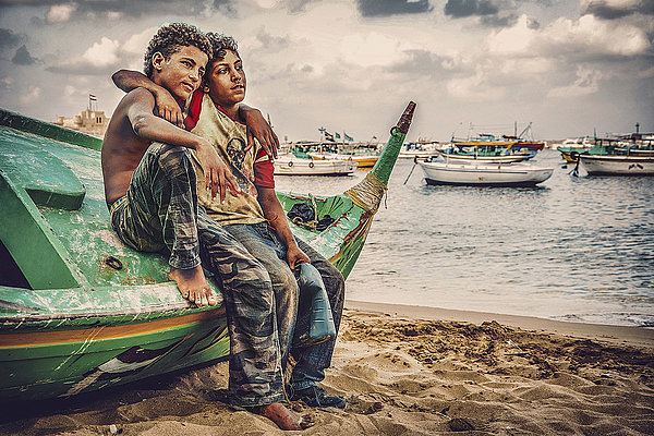 Young Fishermen Photograph by Shadyessam