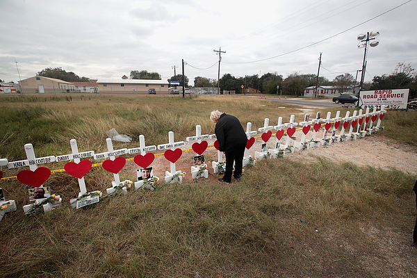 26 People Killed And 20 Injured After Mass Shooting At Texas Church Photograph by Scott Olson