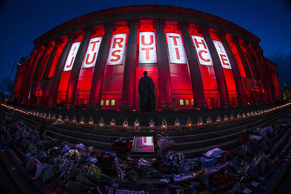 A Vigil Is Held For The 96 Victims Of Hillsborough Photograph by Christopher Furlong