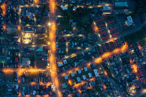 Aerial view of residential district Photograph by Liyao Xie