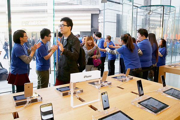 Apple Inc. Launches iPhone 6 And iPhone 6 Plus In China Photograph by Feng Li