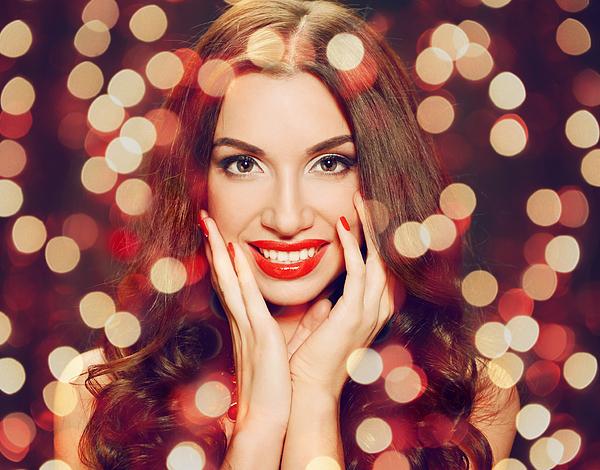 Beautiful brunette woman Photograph by Elenaleonova