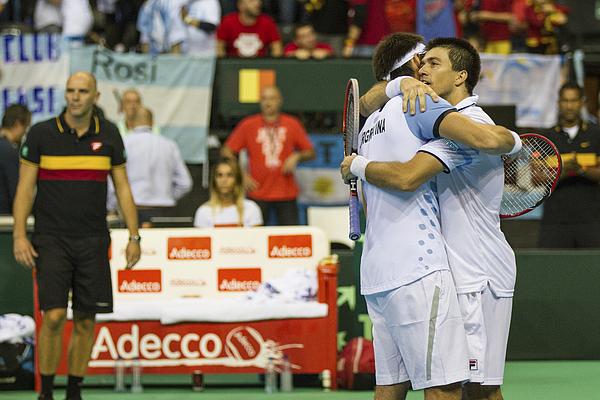 Belgium v Argentina Davis Cup Semi Final 2015 - Day 2 Photograph by Jorge Luis Alvarez Pupo
