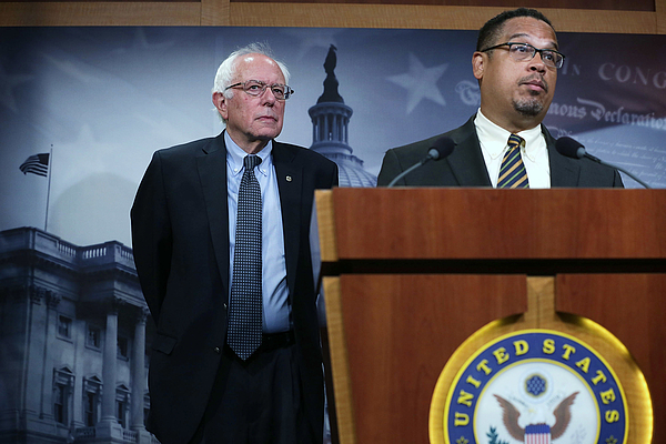 Bernie Sanders Holds News Conference On Private Prisons On Captiol Hill Photograph by Alex Wong