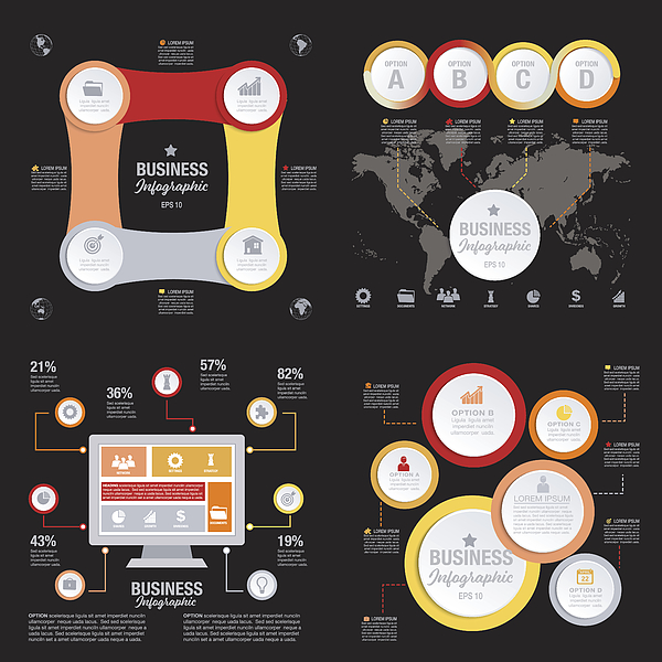 Business Infographic template With 3D Circles And Iocns Photograph by Diane555