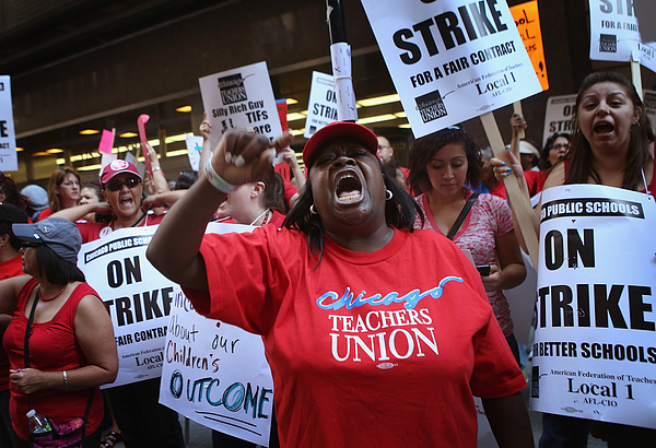Chicago Teachers Go On Strike For First Time In 25 Years Photograph by Scott Olson