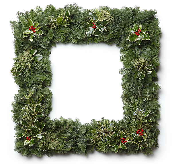Christmas Garland Frame Photograph by Dny59