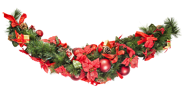 Christmas Garland Photograph by GMVozd