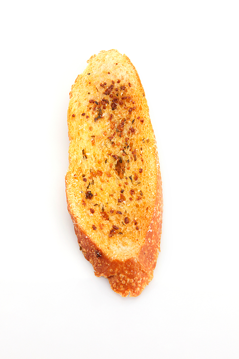 Close-Up Of Garlic Bread Against White Background Photograph by Eskay Lim / EyeEm
