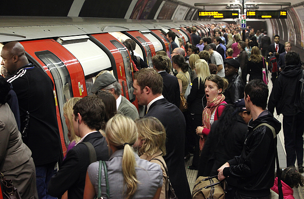 Commuter Chaos As RMT Workers Bring London Underground To A Standstill Photograph by Oli Scarff