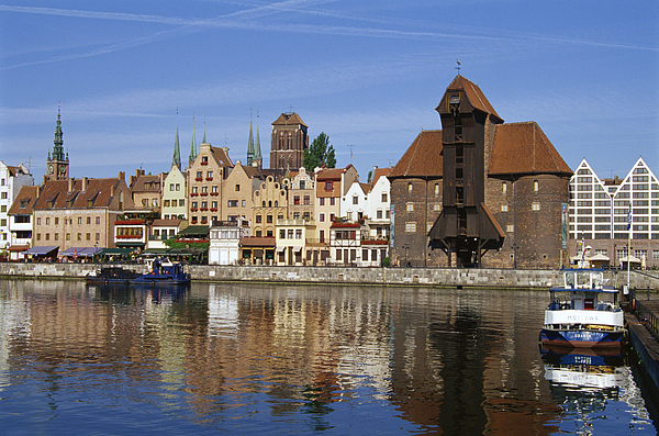 Crane Gate, Motlawa Canal, Old Town, Gdansk, Poland Photograph by Dallas and John Heaton