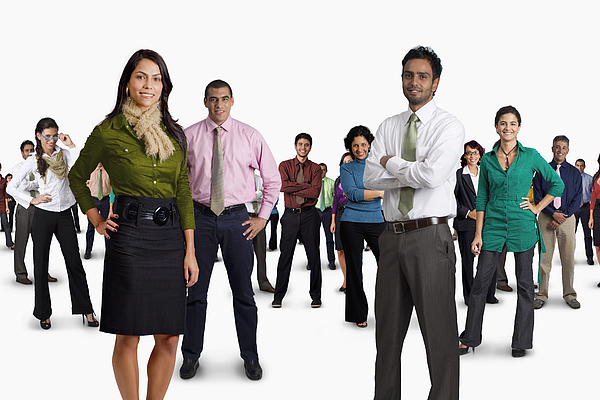 Diverse business people standing together Photograph by Jon Feingersh Photography Inc