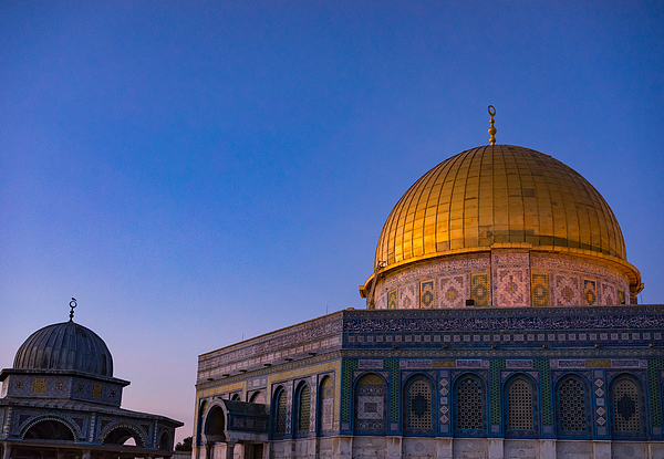 Dome Of The Rock Islamic Mosque Temple Mount, Jerusalem. Built In 691, Where Prophet Mohamed Ascended To Heaven On An Angel In His night Journey. Photograph by Shaifulzamri