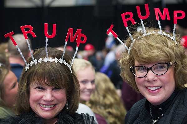 Donald Trump Campaigns In Grand Rapids Photograph by Scott Olson
