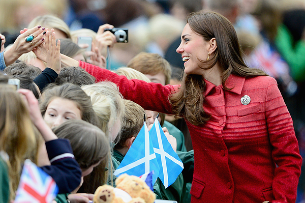 Duke and Duchess Of Cambridge Visit Scotland Photograph by Jeff J Mitchell