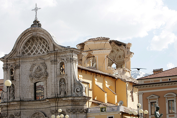 Earthquake Strikes Central Italy Photograph by Franco Origlia