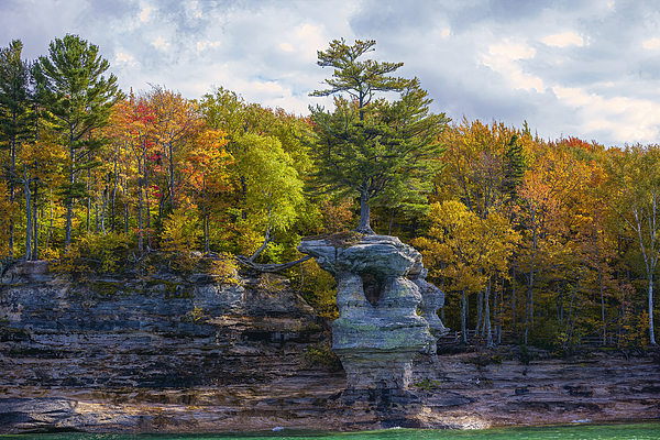 Fall Colors at Pictured Rocks Photograph by Ali Majdfar