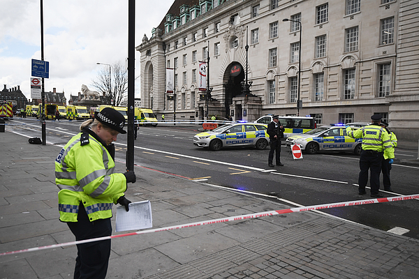 Firearms Incident Takes Place Outside Parliament Photograph by Carl Court